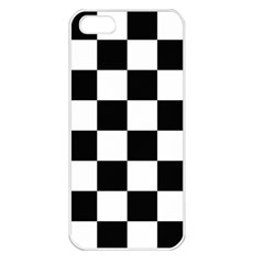 Checkered Flag Race Winner Mosaic Tile Pattern Apple Iphone 5 Seamless Case (white) by CrypticFragmentsColors