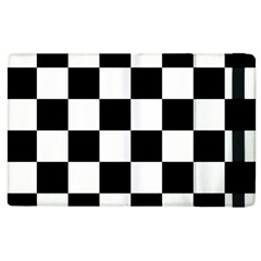 Checkered Flag Race Winner Mosaic Tile Pattern Apple Ipad 3/4 Flip Case by CrypticFragmentsColors