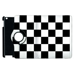 Checkered Flag Race Winner Mosaic Tile Pattern Apple Ipad 2 Flip 360 Case by CrypticFragmentsColors