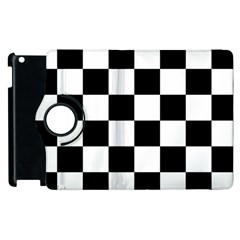 Checkered Flag Race Winner Mosaic Tile Pattern Apple Ipad 3/4 Flip 360 Case by CrypticFragmentsColors