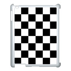 Checkered Flag Race Winner Mosaic Tile Pattern Apple Ipad 3/4 Case (white) by CrypticFragmentsColors