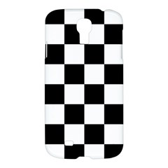 Checkered Flag Race Winner Mosaic Tile Pattern Samsung Galaxy S4 I9500/i9505 Hardshell Case by CrypticFragmentsColors