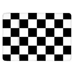Checkered Flag Race Winner Mosaic Tile Pattern Samsung Galaxy Tab 8 9  P7300 Flip Case by CrypticFragmentsColors