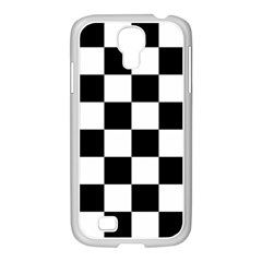 Checkered Flag Race Winner Mosaic Tile Pattern Samsung Galaxy S4 I9500/ I9505 Case (white) by CrypticFragmentsColors