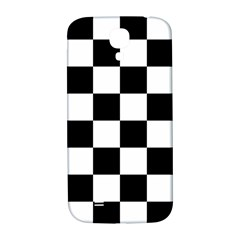 Checkered Flag Race Winner Mosaic Tile Pattern Samsung Galaxy S4 I9500/i9505  Hardshell Back Case by CrypticFragmentsColors