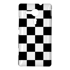 Checkered Flag Race Winner Mosaic Tile Pattern Sony Xperia SP M35H Hardshell Case by CrypticFragmentsColors