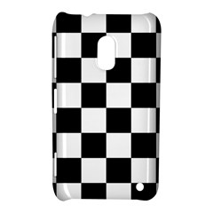 Checkered Flag Race Winner Mosaic Tile Pattern Nokia Lumia 620 Hardshell Case by CrypticFragmentsColors