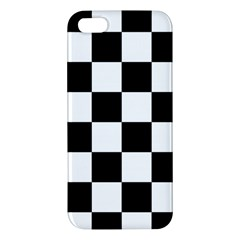 Checkered Flag Race Winner Mosaic Tile Pattern Iphone 5s Premium Hardshell Case by CrypticFragmentsColors