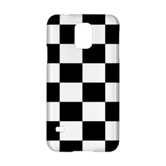 Checkered Flag Race Winner Mosaic Tile Pattern Samsung Galaxy S5 Hardshell Case  by CrypticFragmentsColors