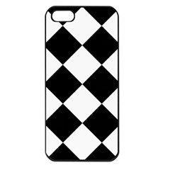 Harlequin Diamond Mosaic Tile Pattern Black White Apple Iphone 5 Seamless Case (black) by CrypticFragmentsColors