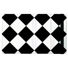 Harlequin Diamond Mosaic Tile Pattern Black White Apple Ipad 2 Flip Case by CrypticFragmentsColors