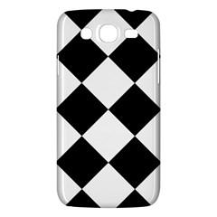 Harlequin Diamond Mosaic Tile Pattern Black White Samsung Galaxy Mega 5 8 I9152 Hardshell Case  by CrypticFragmentsColors