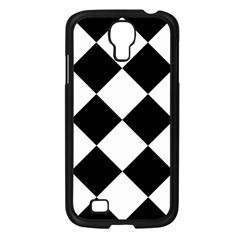 Harlequin Diamond Mosaic Tile Pattern Black White Samsung Galaxy S4 I9500/ I9505 Case (black) by CrypticFragmentsColors