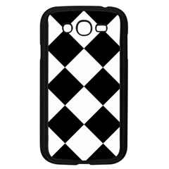 Harlequin Diamond Mosaic Tile Pattern Black White Samsung Galaxy Grand Duos I9082 Case (black) by CrypticFragmentsColors