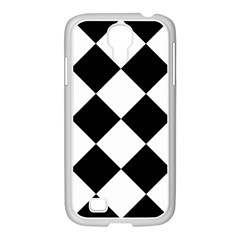 Harlequin Diamond Mosaic Tile Pattern Black White Samsung Galaxy S4 I9500/ I9505 Case (white) by CrypticFragmentsColors