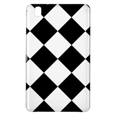 Harlequin Diamond Mosaic Tile Pattern Black White Samsung Galaxy Tab Pro 8 4 Hardshell Case by CrypticFragmentsColors