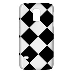Harlequin Diamond Mosaic Tile Pattern Black White Samsung Galaxy S5 Mini Hardshell Case  by CrypticFragmentsColors
