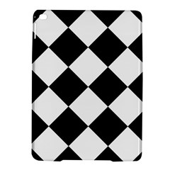 Harlequin Diamond Mosaic Tile Pattern Black White Apple Ipad Air 2 Hardshell Case by CrypticFragmentsColors