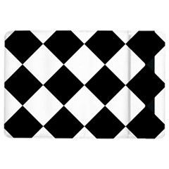 Harlequin Diamond Mosaic Tile Pattern Black White Apple Ipad Air 2 Flip Case by CrypticFragmentsColors