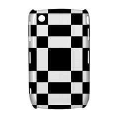Modified Checkered Mosaic Tile Pattern Black White  BlackBerry Curve 8520 9300 Hardshell Case  by CrypticFragmentsColors