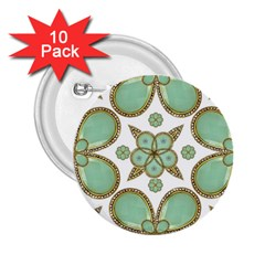 Luxury Decorative Pattern Collage 2.25  Button (10 pack) by dflcprints
