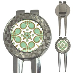 Luxury Decorative Pattern Collage Golf Pitchfork & Ball Marker by dflcprints