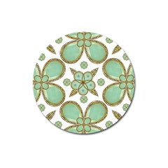 Luxury Decorative Pattern Collage Magnet 3  (round) by dflcprints