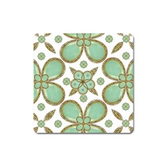 Luxury Decorative Pattern Collage Magnet (square) by dflcprints