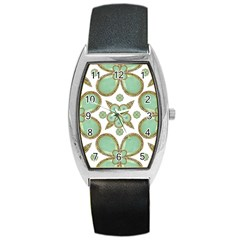 Luxury Decorative Pattern Collage Tonneau Leather Watch by dflcprints