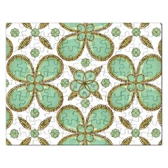 Luxury Decorative Pattern Collage Jigsaw Puzzle (rectangle) by dflcprints