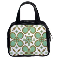 Luxury Decorative Pattern Collage Classic Handbag (two Sides) by dflcprints