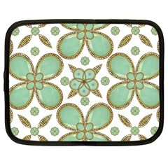 Luxury Decorative Pattern Collage Netbook Sleeve (xl) by dflcprints