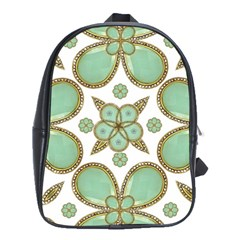 Luxury Decorative Pattern Collage School Bag (large) by dflcprints