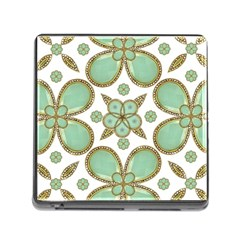 Luxury Decorative Pattern Collage Memory Card Reader With Storage (square) by dflcprints