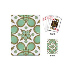 Luxury Decorative Pattern Collage Playing Cards (mini) by dflcprints