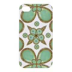 Luxury Decorative Pattern Collage Apple Iphone 4/4s Hardshell Case by dflcprints