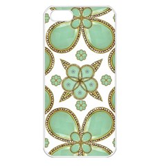 Luxury Decorative Pattern Collage Apple Iphone 5 Seamless Case (white) by dflcprints