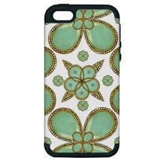 Luxury Decorative Pattern Collage Apple Iphone 5 Hardshell Case (pc+silicone) by dflcprints