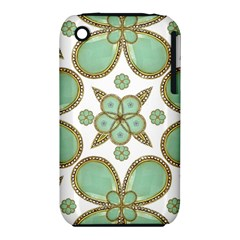 Luxury Decorative Pattern Collage Apple Iphone 3g/3gs Hardshell Case (pc+silicone) by dflcprints