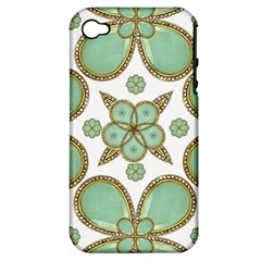 Luxury Decorative Pattern Collage Apple Iphone 4/4s Hardshell Case (pc+silicone) by dflcprints