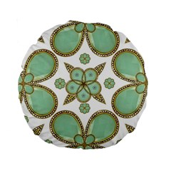 Luxury Decorative Pattern Collage 15  Premium Round Cushion  by dflcprints