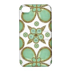 Luxury Decorative Pattern Collage Apple Iphone 4/4s Hardshell Case With Stand by dflcprints
