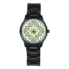 Luxury Decorative Pattern Collage Sport Metal Watch (black) by dflcprints