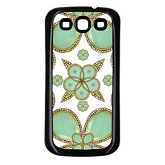 Luxury Decorative Pattern Collage Samsung Galaxy S3 Back Case (black) by dflcprints