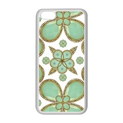 Luxury Decorative Pattern Collage Apple Iphone 5c Seamless Case (white) by dflcprints