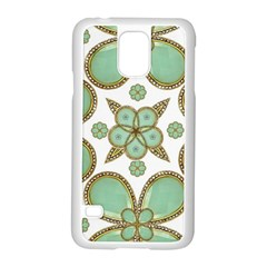 Luxury Decorative Pattern Collage Samsung Galaxy S5 Case (white) by dflcprints