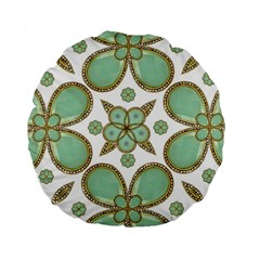 Luxury Decorative Pattern Collage 15  Premium Flano Round Cushion  by dflcprints