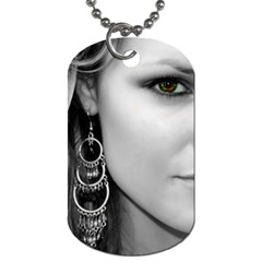 Tonya J. Mitchell Dog Tag (Two Sides) by grittynittys