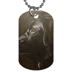 Black Lab Dog Tag (two Sided)  by LabsandRetrievers