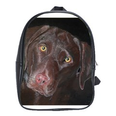 Inquisitive Chocolate Lab School Bag (XL) by LabsandRetrievers